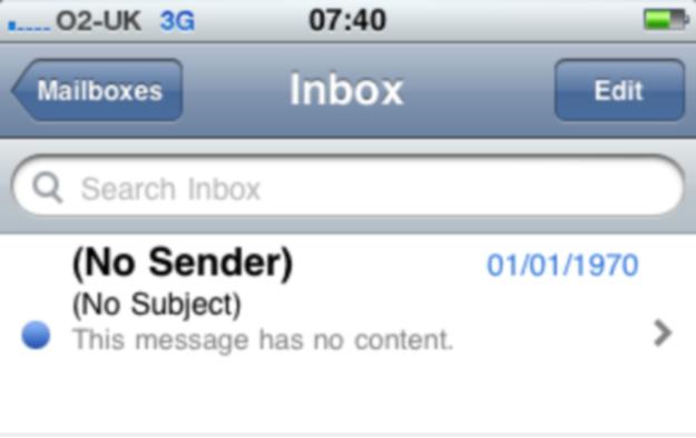 No sender
