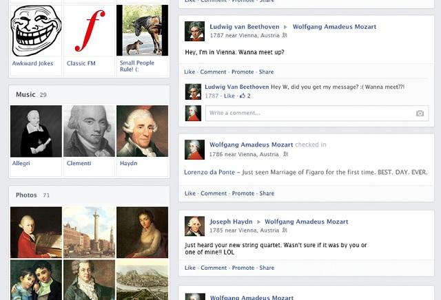Mozart on Facebook